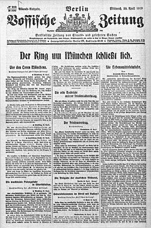 Vossische Zeitung vom 30.04.1919