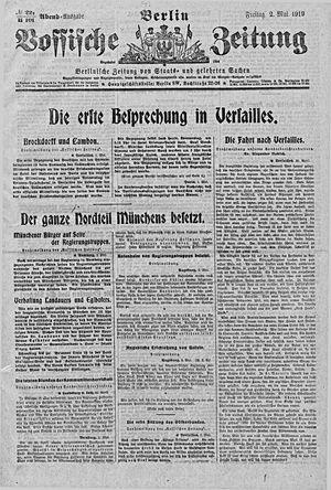 Vossische Zeitung on May 2, 1919