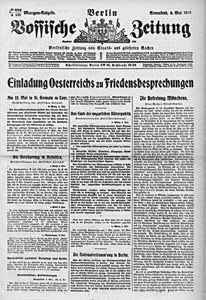 Vossische Zeitung vom 03.05.1919
