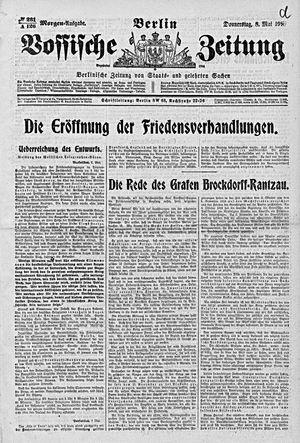 Vossische Zeitung vom 08.05.1919