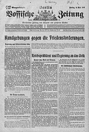 Vossische Zeitung vom 09.05.1919