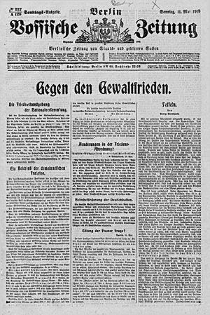 Vossische Zeitung vom 11.05.1919