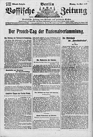 Vossische Zeitung vom 12.05.1919