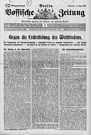 Vossische Zeitung vom 13.05.1919