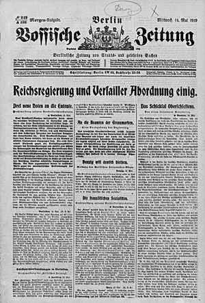 Vossische Zeitung vom 14.05.1919