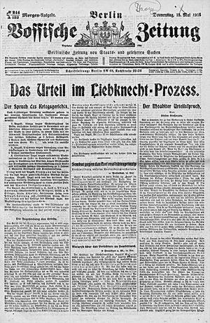 Vossische Zeitung vom 15.05.1919