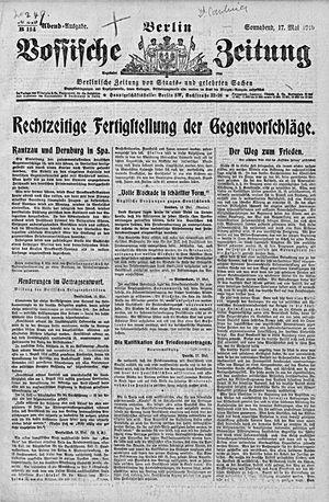 Vossische Zeitung vom 17.05.1919