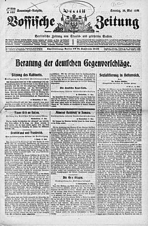 Vossische Zeitung vom 18.05.1919