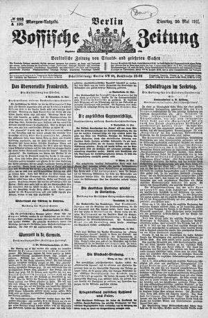 Vossische Zeitung vom 20.05.1919
