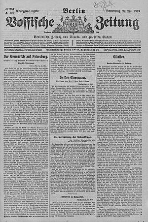 Vossische Zeitung vom 22.05.1919
