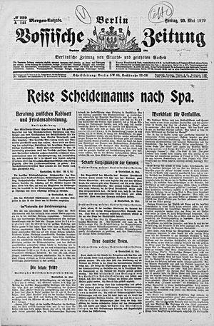 Vossische Zeitung vom 23.05.1919