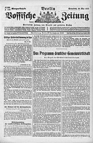 Vossische Zeitung vom 24.05.1919