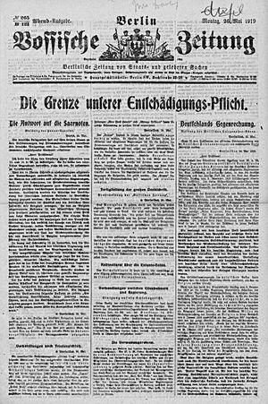 Vossische Zeitung vom 26.05.1919