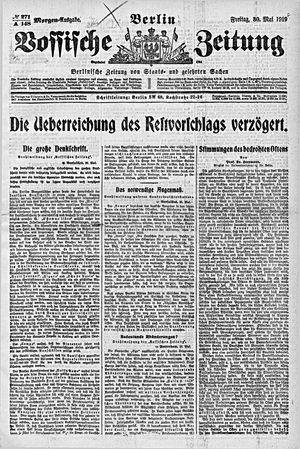 Vossische Zeitung vom 30.05.1919