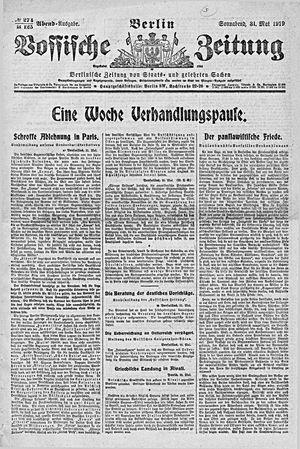 Vossische Zeitung vom 31.05.1919