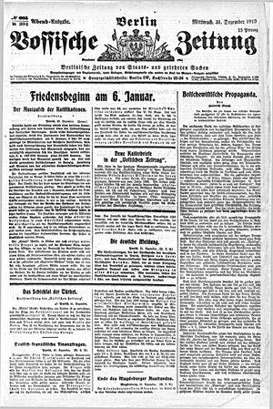 Vossische Zeitung vom 31.12.1919