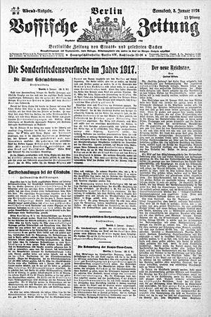 Vossische Zeitung vom 03.01.1920
