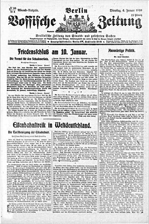 Vossische Zeitung vom 06.01.1920