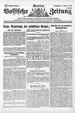 Vossische Zeitung vom 08.01.1920