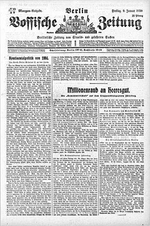 Vossische Zeitung on Jan 9, 1920