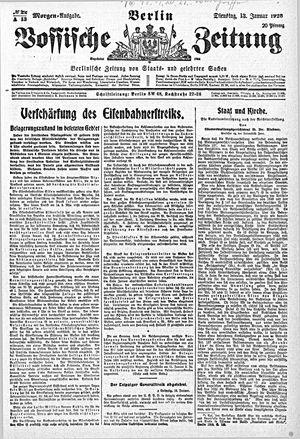 Vossische Zeitung vom 13.01.1920