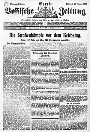 Vossische Zeitung vom 14.01.1920