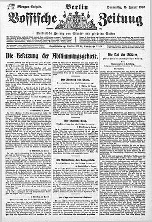 Vossische Zeitung vom 15.01.1920