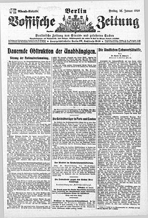 Vossische Zeitung vom 16.01.1920