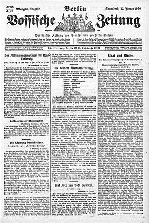 Vossische Zeitung vom 17.01.1920