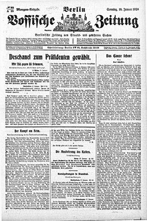 Vossische Zeitung vom 18.01.1920