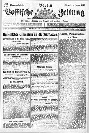 Vossische Zeitung vom 21.01.1920