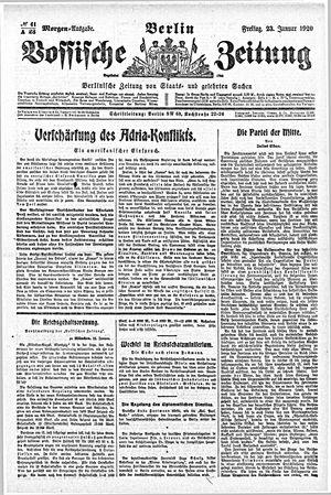 Vossische Zeitung vom 23.01.1920
