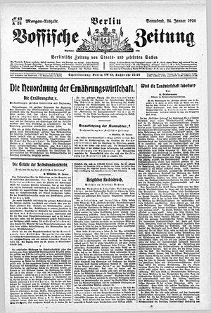 Vossische Zeitung vom 24.01.1920
