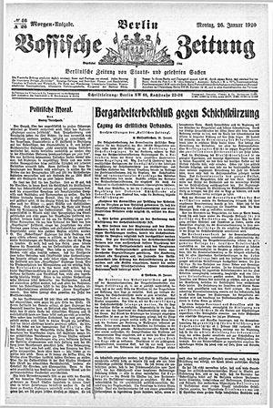 Vossische Zeitung vom 26.01.1920