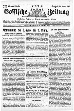 Vossische Zeitung vom 31.01.1920