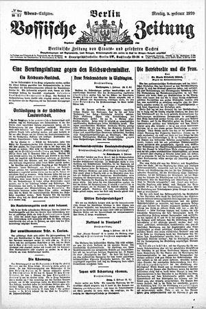 Vossische Zeitung on Feb 2, 1920