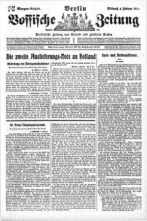 Vossische Zeitung vom 04.02.1920