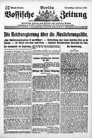 Vossische Zeitung vom 05.02.1920