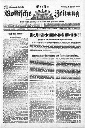 Vossische Zeitung vom 08.02.1920