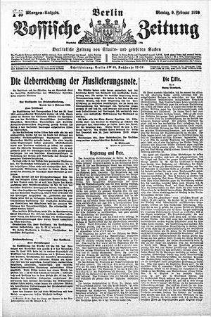 Vossische Zeitung vom 09.02.1920