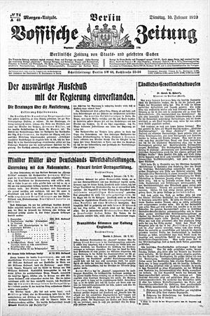 Vossische Zeitung vom 10.02.1920