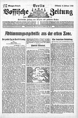 Vossische Zeitung vom 11.02.1920