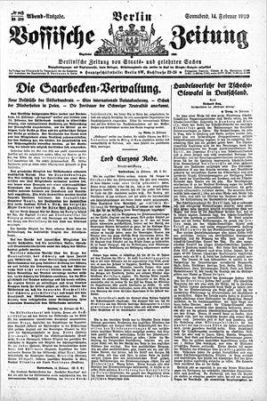 Vossische Zeitung on Feb 14, 1920