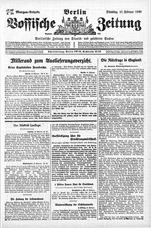 Vossische Zeitung vom 17.02.1920