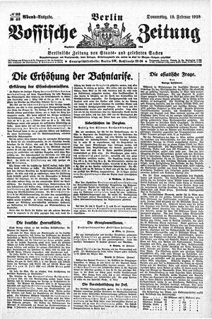 Vossische Zeitung vom 19.02.1920