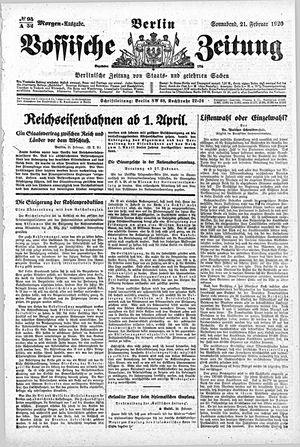 Vossische Zeitung on Feb 21, 1920