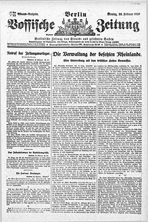 Vossische Zeitung vom 23.02.1920