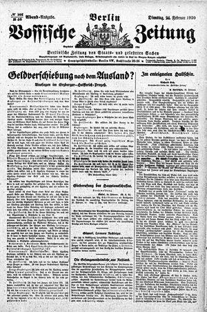 Vossische Zeitung vom 24.02.1920