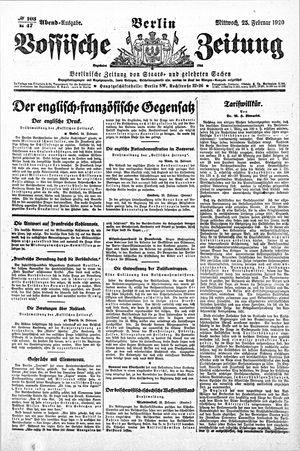 Vossische Zeitung vom 25.02.1920