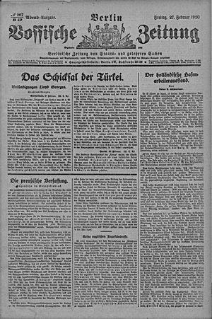 Vossische Zeitung vom 27.02.1920